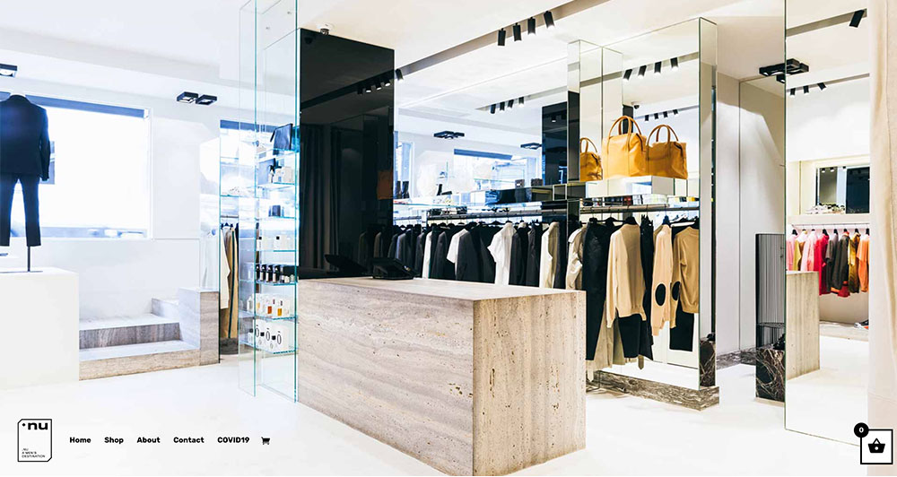 .NU Store homepage